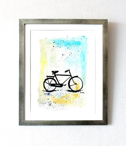 """Bicicleta nr 8"" (34 x 43 cms)"