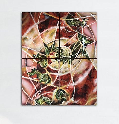 Fractal silvestre (poliptico de 100 x 80 cms)