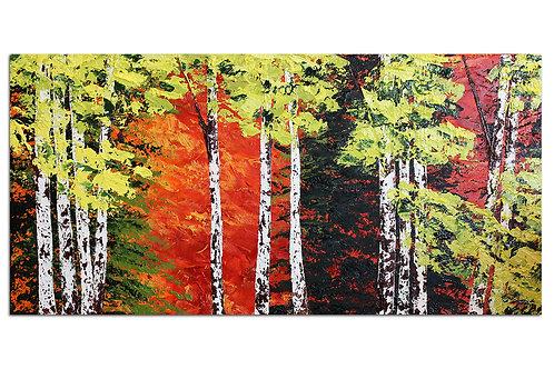 Colores en el bosque (40 x 80 cms)