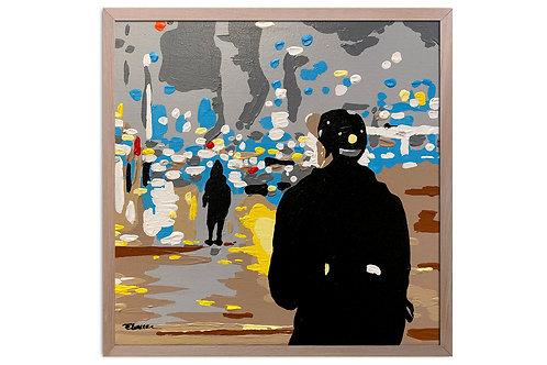 """Obra """"Un mundo afuera"""" (30 x 30 cms)"""