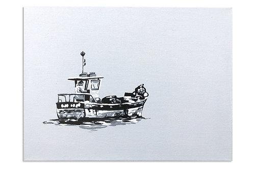 A navegar (30 x 40 cms)