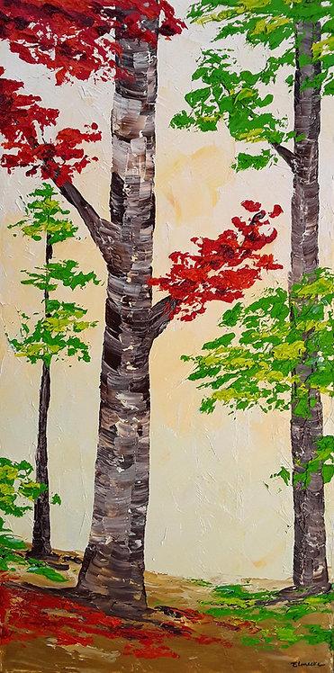 Un momento en el bosque (80 x 40 cms)