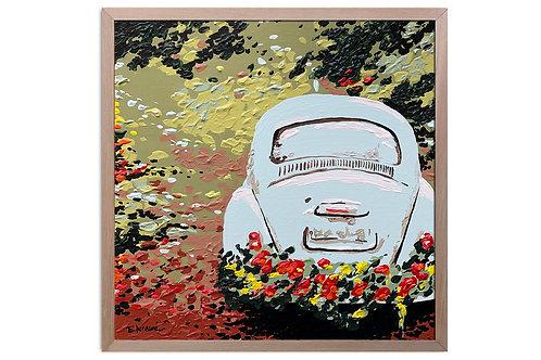 """Obra """"Trayectos de primavera"""" (30 x 30 cms - enmarcada)"""