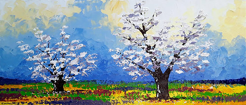 Verano de colores (60 x 140 cms)