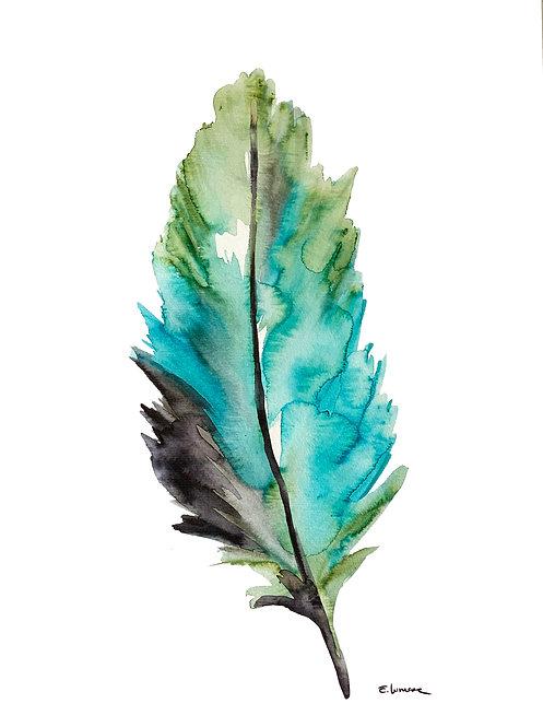 Recolectando plumas VIII (40 x 30 cms)