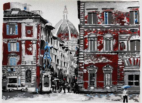 "Print de ""Vista al Duomo"" (24 x 33 cms)"