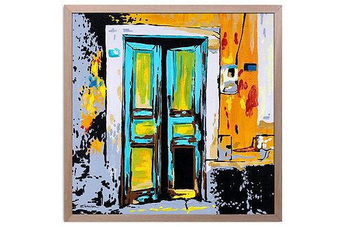 """Obra """"Entrada"""" (30 x 30 cms - enmarcada)"""