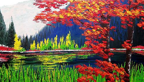 Reflejos de colores (80 x 140 cms)