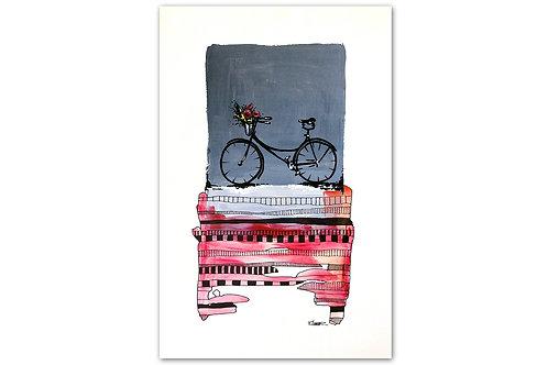 Tarde de bicicleta - II (28 x 43 cms)