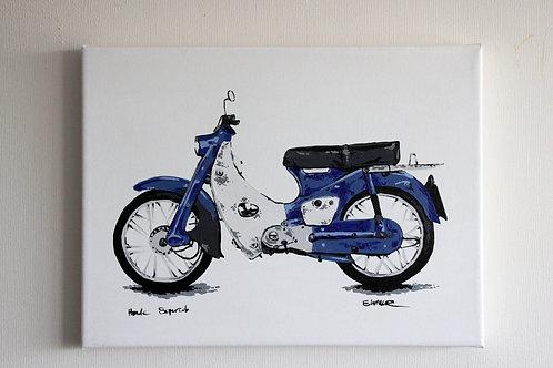 """""""Honda Supercub"""" (30 x 40 cms)"""