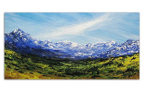 Un lugar en las montañas (50 x 100 cms)