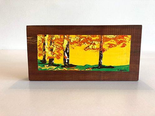 Oleo sobre Rauli IV (25 x 12 x 4 cms)