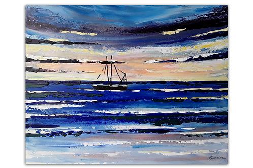 Navegando hoy (40 x 50 cms)
