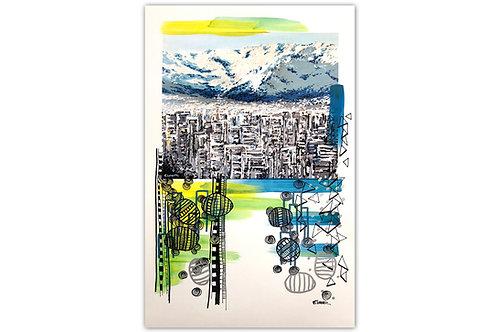 Santiago urbano - II (28 x 43 cms)