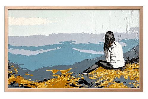 En el horizonte (30 x 50 cms)