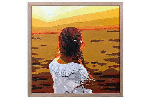 "Obra ""Atardecer"" (30 x 30 cms - enmarcada)"