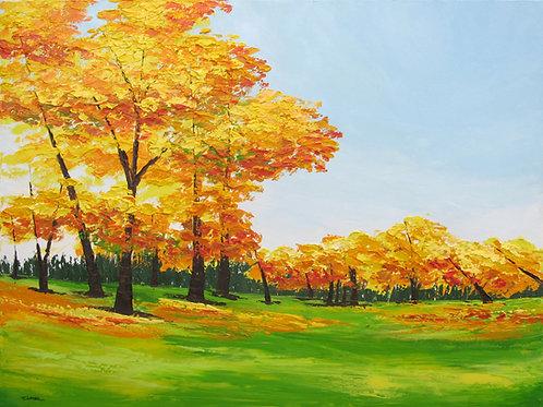 Entre verano y otoño (90 x 120 cms)