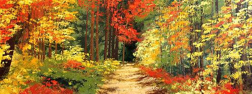 Entre hojas de colores (60 x 160 cms)