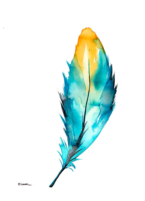 Recolectando plumas I (40 x 30 cms)