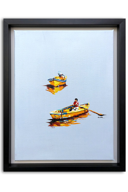 Flotando y esperando (47 x 37 cms)