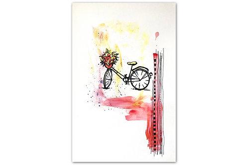 Bici primaveral - II (28 x 43 cms)