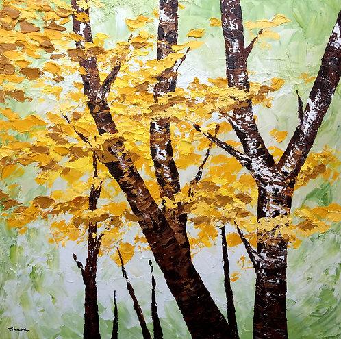 Bosque suave (100 x 100 cms)