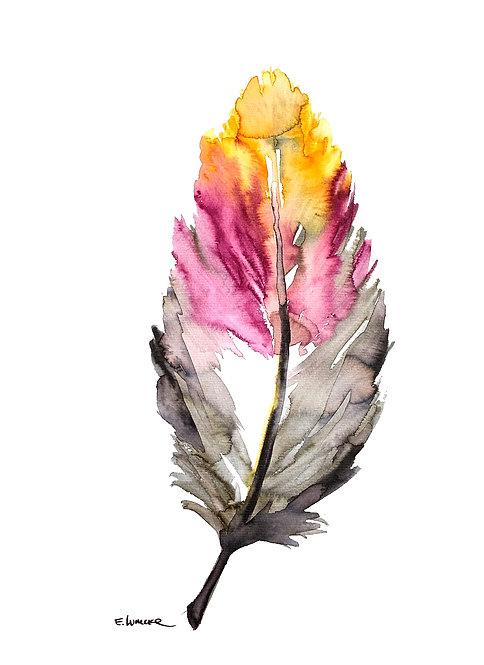 Recolectando plumas XII (40 x 30 cms)