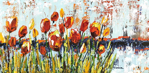 Tulipanes de verano (40 x 80 cms)