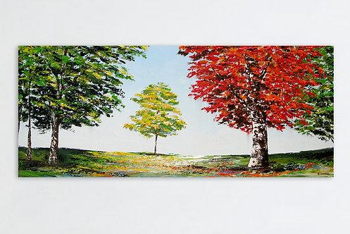 Otoños y veranos (60 x 140 cms)