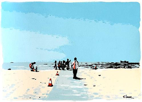 Caminando en la playa (21 x 28 cms)