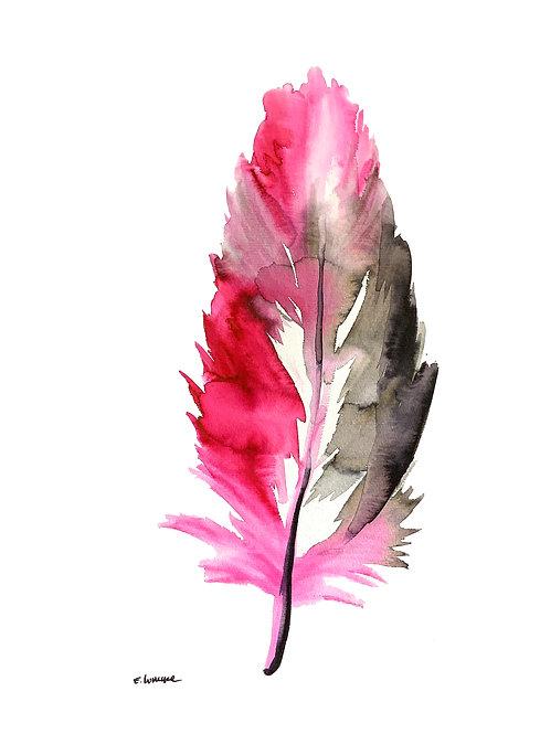Recolectando plumas XI (40 x 30 cms)