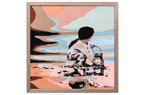 """Obra """"Recolección"""" (30 x 30 cms - enmarcada)"""