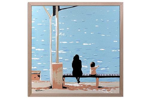 """Obra """"Lo que vemos"""" (30 x 30 cms - enmarcada)"""
