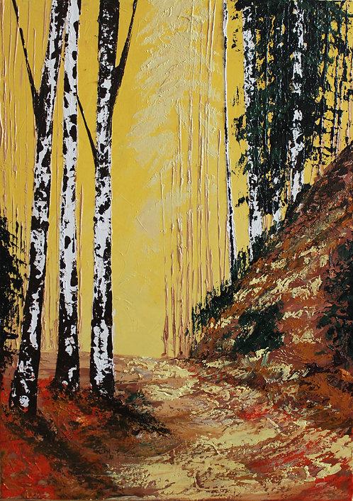 Atardecer del bosque (70 x 50 cms)