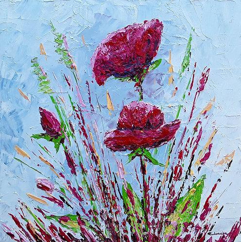 Suaves flores (50 x 50 cms)