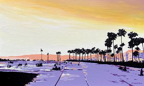 California sunset (30 x 50 cms)