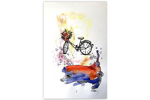 Bici primaveral - I (28 x 43 cms)