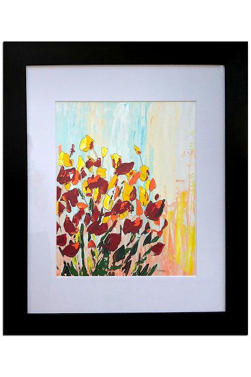 Alegría de flores I (100 x 80 cms)