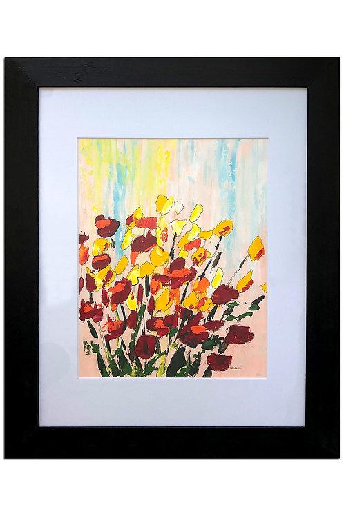Alegría de flores II (100 x 80 cms)