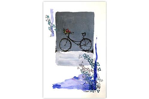 Tarde de bicicleta - I (28 x 43 cms)