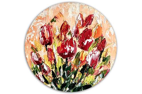 Pequeño mundo florido (40 cms de diámetro)