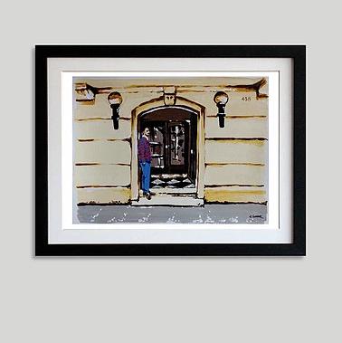 """""""En el umbral"""" (34 x 43 cms)"""