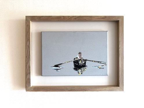 Remando en soledad (34 x 44 cms)