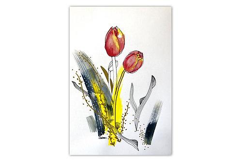 Tulipanes - II (28 x 43 cms)