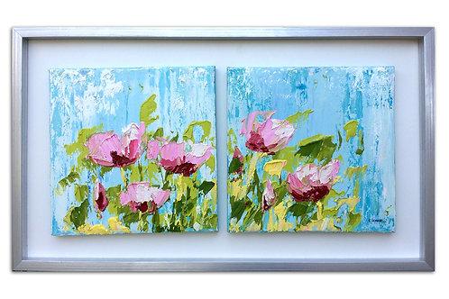 Flores de amanecer (44 x 87 cms)