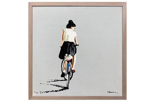 """Obra """"Equilibrio"""" (30 x 30 cms - enmarcada)"""