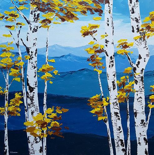 Abedules de montaña (100 x 100 cms)