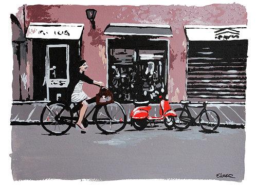 """Print de """"Paseo por la tarde"""" (24 x 33 cms)"""