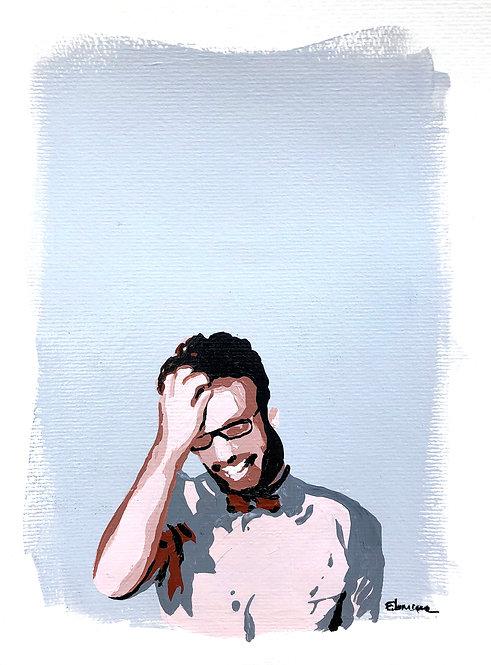Riendo hoy (26 x 19 cms)