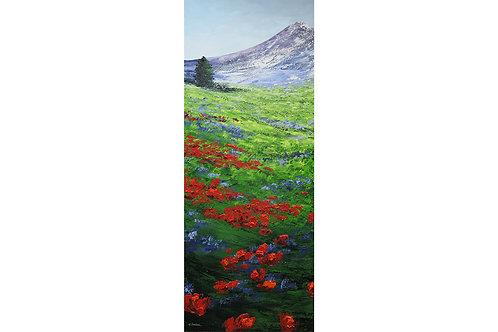 Flores para Violeta (150 x 60 cms)